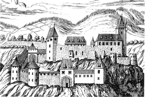 Ansicht des Schlosses Thalberg aus G. M. Vischers Schlösserbuch (um 1680)
